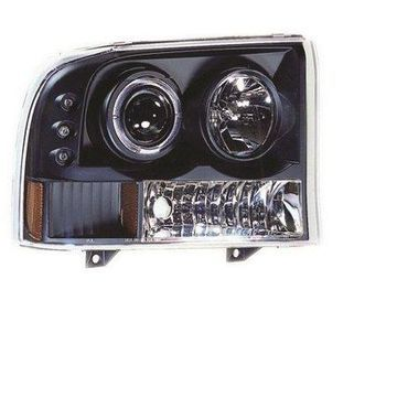 IPCW CWS-500B2 Head Lamps; Projector w/Rings And Corners; Black;