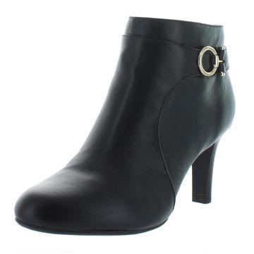 Bandolino Womens Longo Leather Ankle Booties