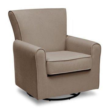 Delta Children Elena Glider Swivel Rocker Chair, Toast Velvet