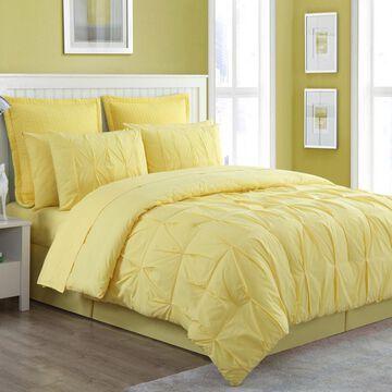 Fiesta Cotton 4 Piece Pintuck Luna Solid Comforter Set