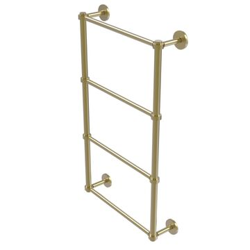 P1000-28-36-SBR Prestige Skyline Collection 4 Tier 36 in. Ladder Towel Bar, Satin Brass