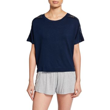 Cara Short-Sleeve Pullover Top