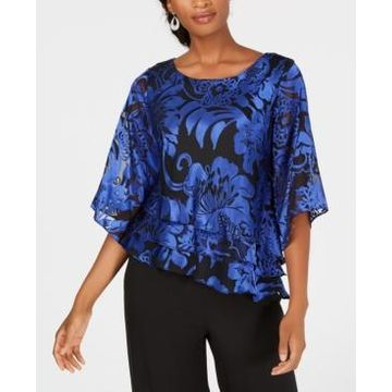 Alex Evenings Printed Tiered Blouse