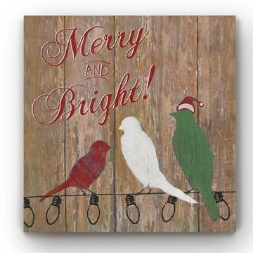 Merry and Bright -Gallery Wrapped Canvas