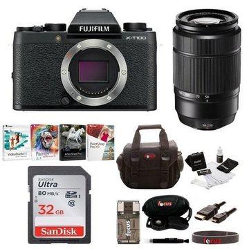 Fujifilm X-T100 Mirrorless Digital Camera with XC 50-230mm Lens Bundle (Black)
