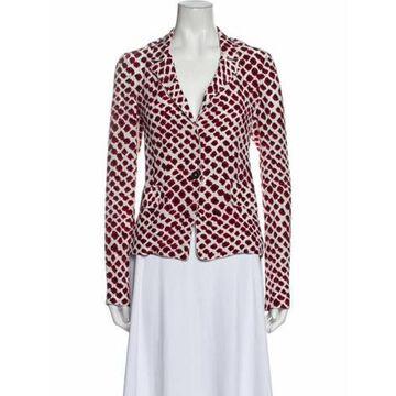 Silk Printed Pajamas Red