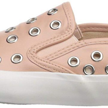 Qupid Womens Oval-01 Low Top Slip On Fashion Sneakers