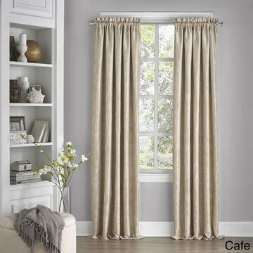 Eclipse Mallory Floral Blackout Window Curtain Panel