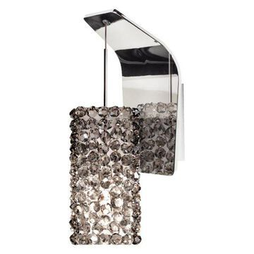 WAC Lighting Haven Wall Sconce, Black Ice Glass, Chrome
