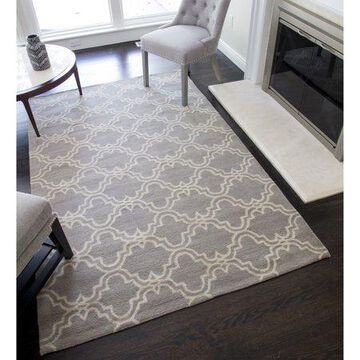 Rugs America Delano Collection Clover Grey DL150 Contemporary Geometric Area Rug 8' x 10'