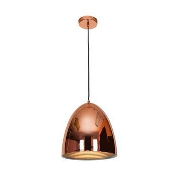 28091-BCP 12 in. Essence 1 Light Brushed Copper Pendant Ceiling Light