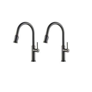 ''Kraus Sellette Single Pull Down Kitchen Sink Faucet, Oil Rubbed Bronze (2 Pack)''