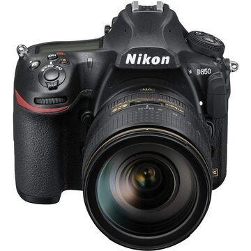 Nikon D850 with AF-S 24-120mm f/4 G ED VR Lens Kit International Model (Black)