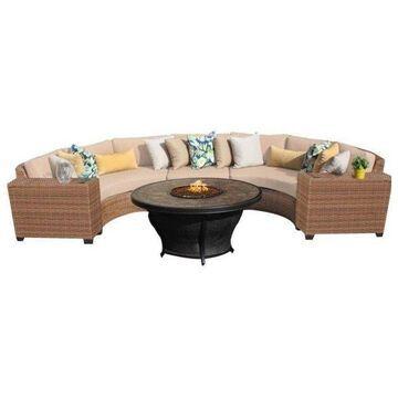 TK Classics Laguna 6-Piece Outdoor Wicker Sofa Set, Wheat