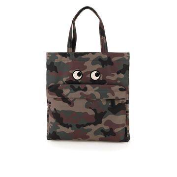 Anya hindmarch recycled nylon eyes tote bag
