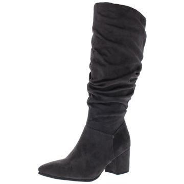 Seven Dials Womens Norbury Faux Suede Slouchy Knee-High Boots