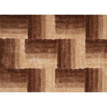 United Weavers Finesse Flagstone Geometric Shag Rug, Beig/Green, 2X3 Ft