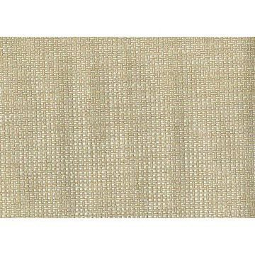 Kenneth James Tai Xi Cream Grasscloth Wallpaper
