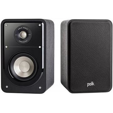 Polk Audio S15 Signature HiFi Compact Bookshelf Speakers - Black