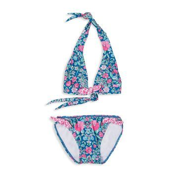 Shoshanna Girl's Garden Floral Halter Bikini