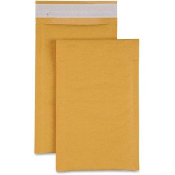 Sparco Size 0 Bubble Cushioned Mailers, Kraft, 200 / Carton (Quantity)