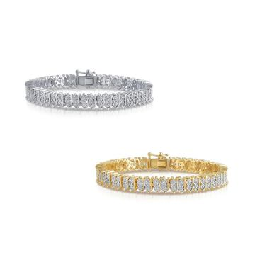 Divina Goldplated or Silverplated Diamond Accent Tennis Bracelet