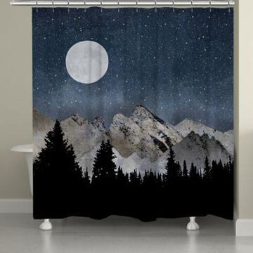 Laural Home Midnight Mountain Shower Curtain