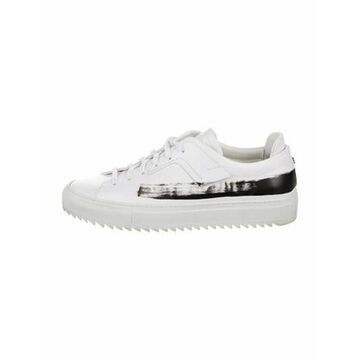 Oamc Leather Colorblock Pattern Sneakers White Oamc Leather Colorblock Pattern Sneakers