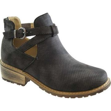 Beacon Shoes Women's Kicker Ankle Boot Grey Synthetic Nubuck