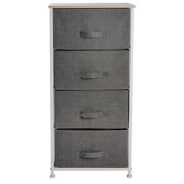 Simplify 4 Drawer Storage Chest, Grey