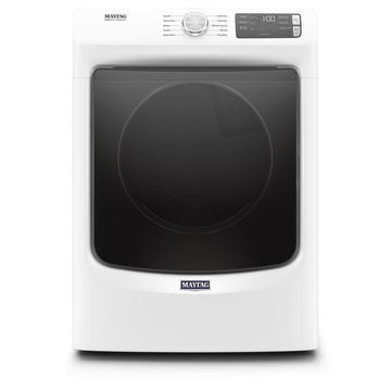Maytag 7.3-cu ft Stackable Gas Dryer (White) ENERGY STAR