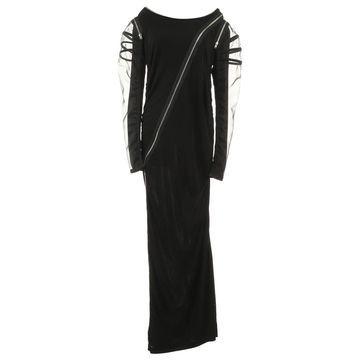 Jean Paul Gaultier Black Synthetic Dresses