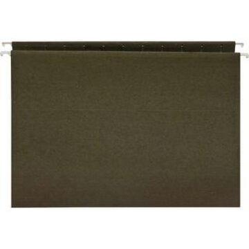 Business Source Standard Hanging File Folders - Green - 8 1/2