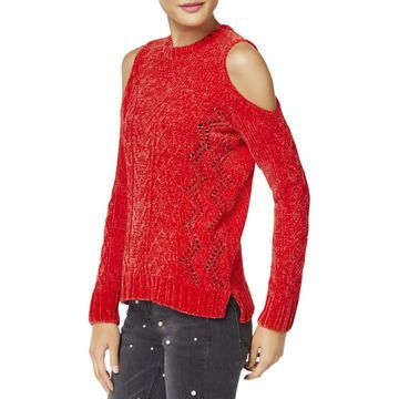 XOXO Womens Juniors Chenille Pointelle Sweater