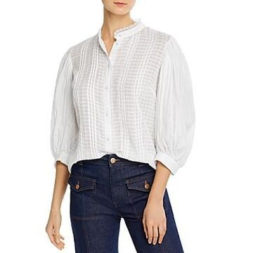 See by Chloe Embellished Cotton Voile Blouse