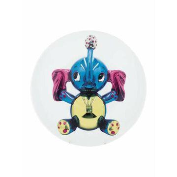 Limited Edition Jeff Koons Elephant Commemorative Plate White