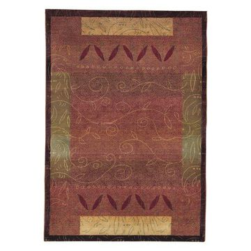 Oriental Weavers Kharma Abstract Red/Gold Rug