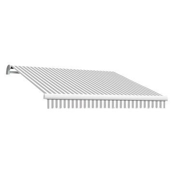 14' Maui-Lx Manual Retractable Awning, Gray/White