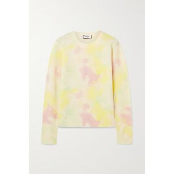 Paul & Joe - Tie-dyed Wool And Cashmere-blend Sweater - Pastel yellow