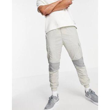 Jack & Jones Core nylon sweatpants in gray - part of a set-Grey