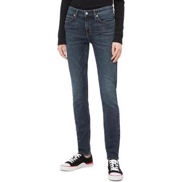 Calvin Klein Jeans Womens Skinny Jeans Denim Solid