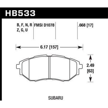 Hawk 05-08 LGT D1078 HPS Street Front Brake Pads