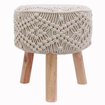 Decor Therapy Nirobi Crochet Stool