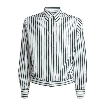 Lanvin Cropped Striped Shirt