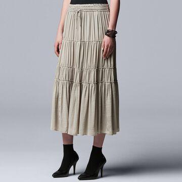 Women's Simply Vera Vera Wang Tiered Smocked Skirt