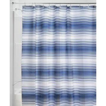 """Interdesign Enzo 72"""" x 72"""" Stripe Shower Curtain Bedding"""