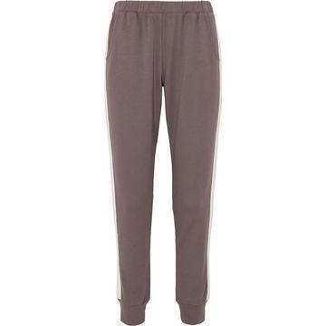 Eberjey - Colby Striped Stretch Pima Cotton And Modal-blend Track Pants - Dark gray