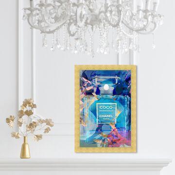 Oliver Gal 'Circe Perfume' Fashion and Glam Wall Art Framed Print Perfumes - Blue, Gold