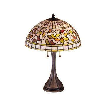 Meyda Tiffany 27824 Turning Leaf Table Lamp