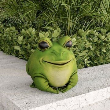 Pure Garden Outdoor Frog Animal Figurine, Polyresin, Bright Green